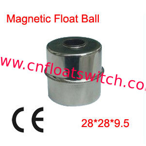 100x 28X28X9.5mm Liquid Level Measurements Magnetic Stainless Steel Float Ball
