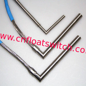 Right Angle Cartridge Heater with Metal Braid Sleeve